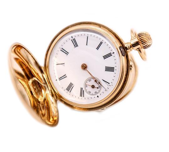 Золотые антикварные часы Moser-5