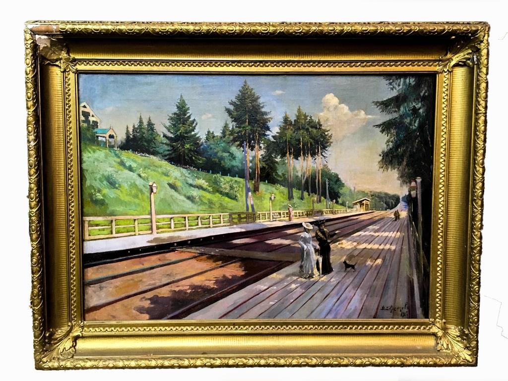 """Картина """"Перон"""" 1907 г.-1"""