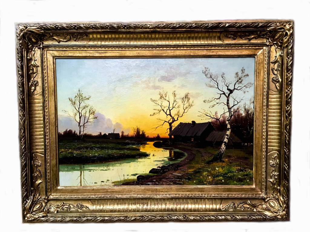 """Картина """"Сельский пейзаж"""", 19 век-3"""