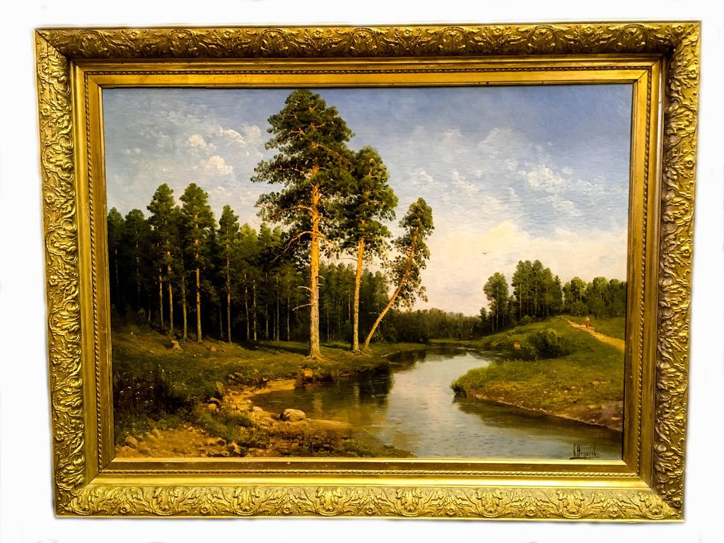 """Картина """"Лесной пейзаж"""", С. Федоров-2"""