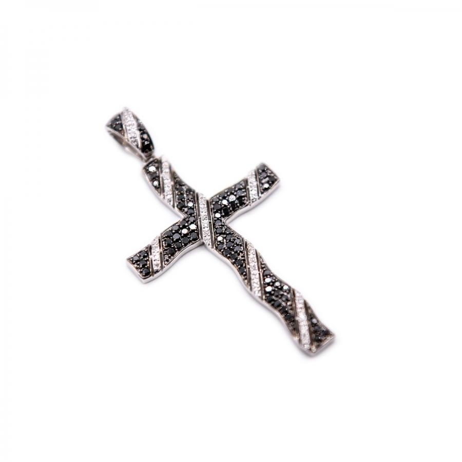 Золотой крестик с бриллиантами-3