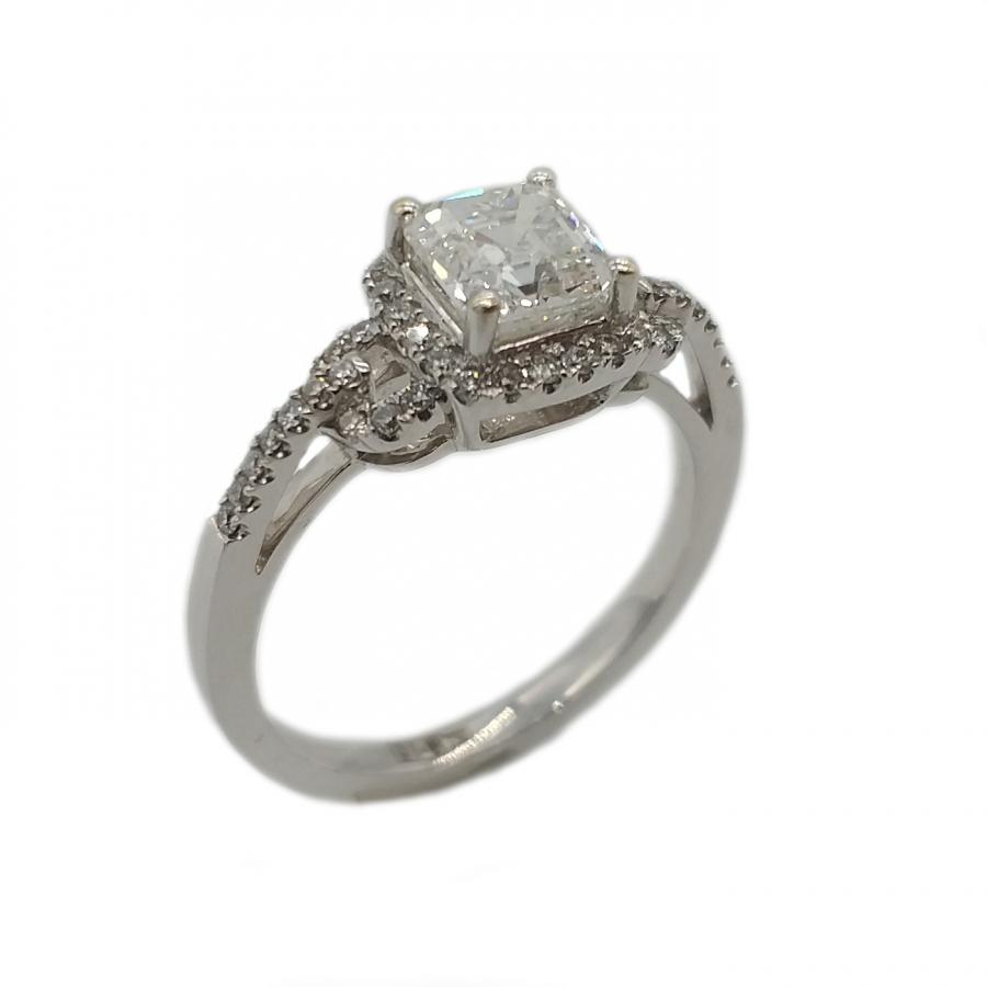 Золотое кольцо с бриллиантами 1,02 ct-2