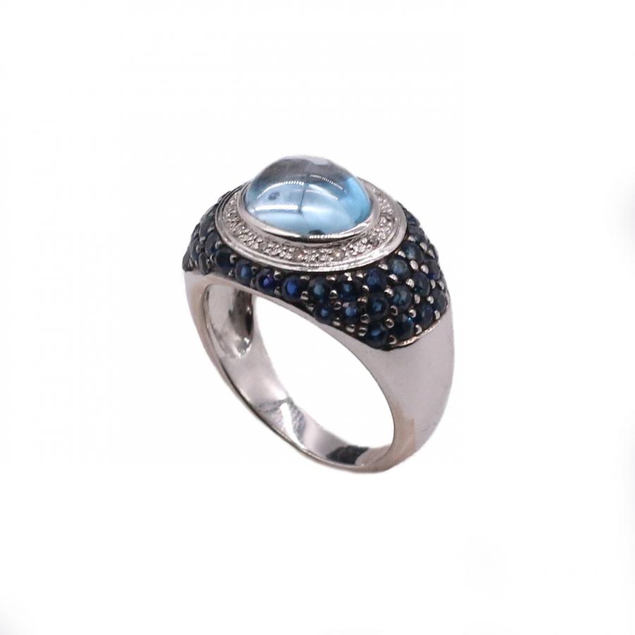 Золотое кольцо с Сапфирами-2