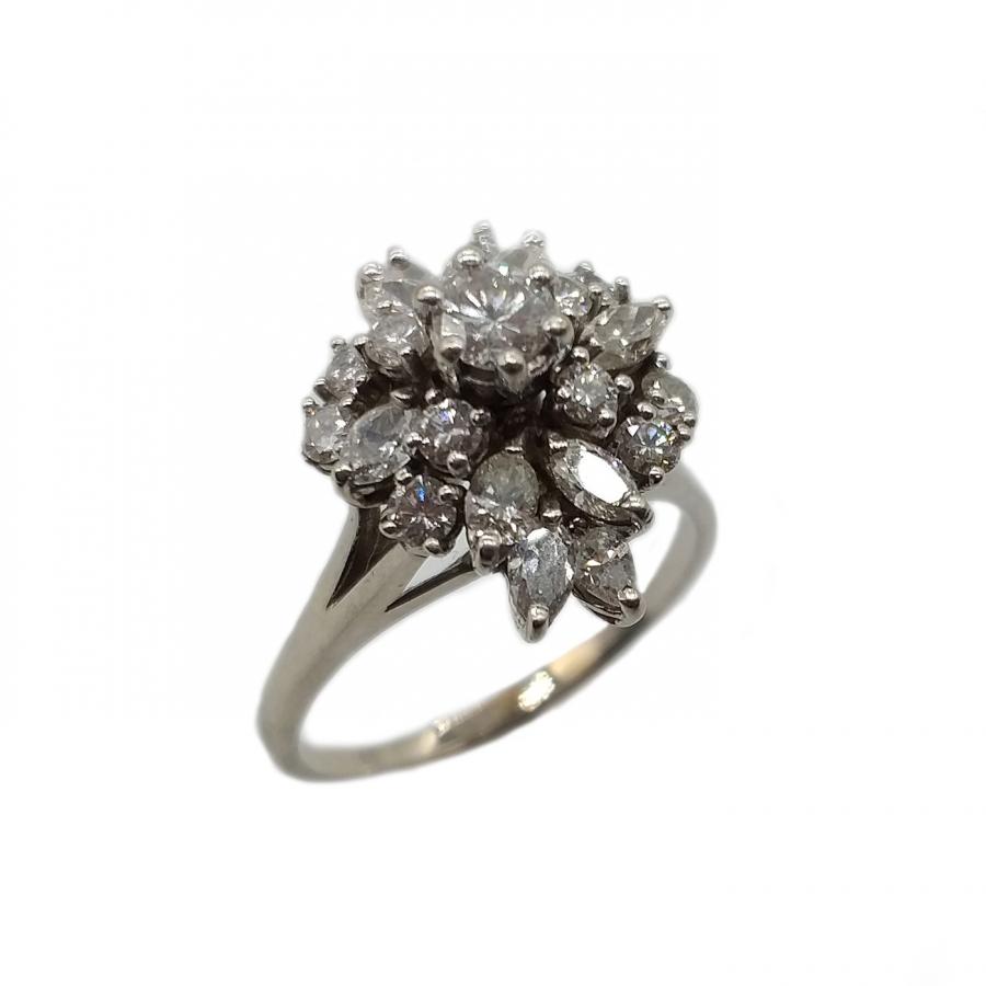 Золотое кольцо с Бриллиантами 2,2 ct ПРОДАНО-1