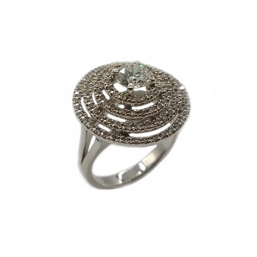 Золотое кольцо с бриллиантом 0,57 ct-3