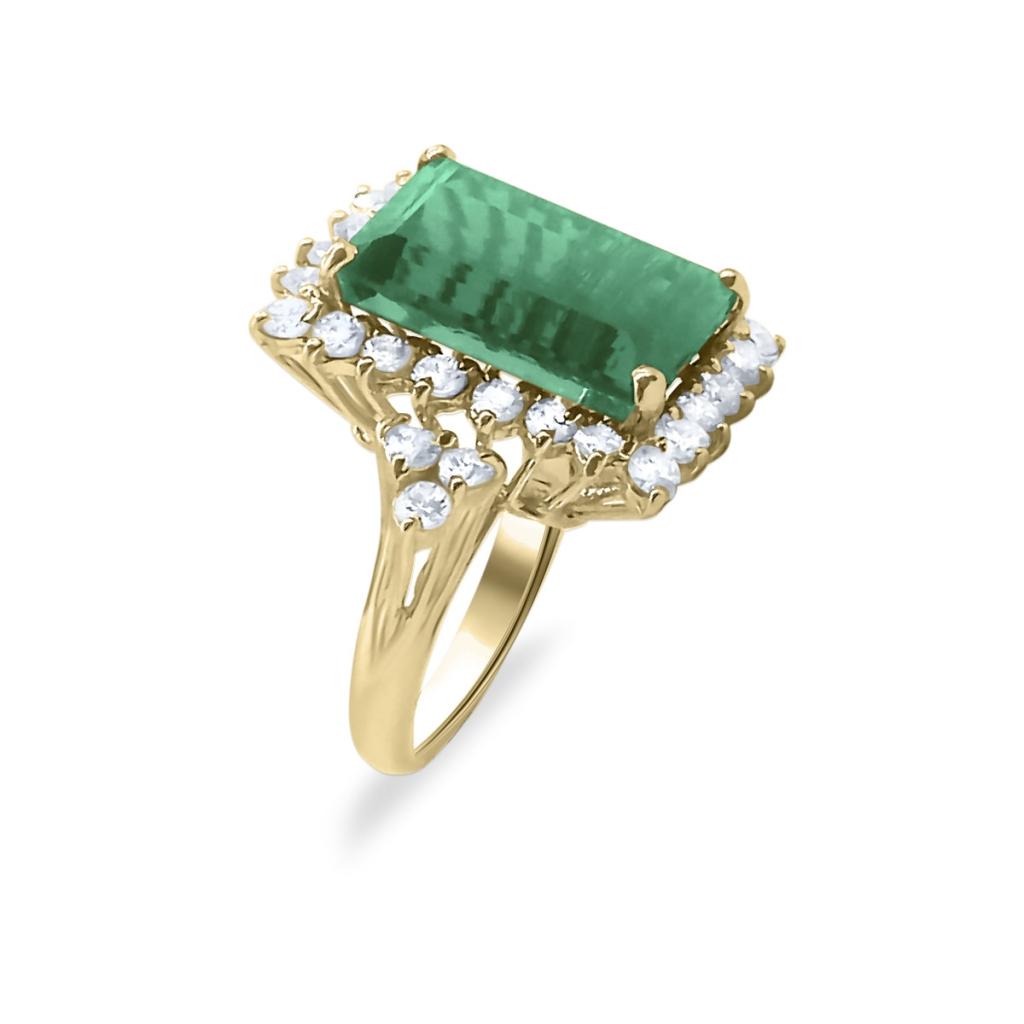 Золотое кольцо с Турмалином 9 ct-3