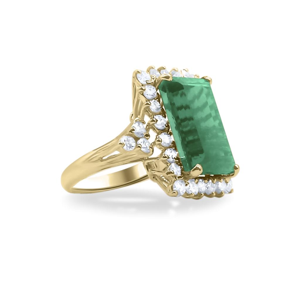Золотое кольцо с Турмалином 9 ct-1