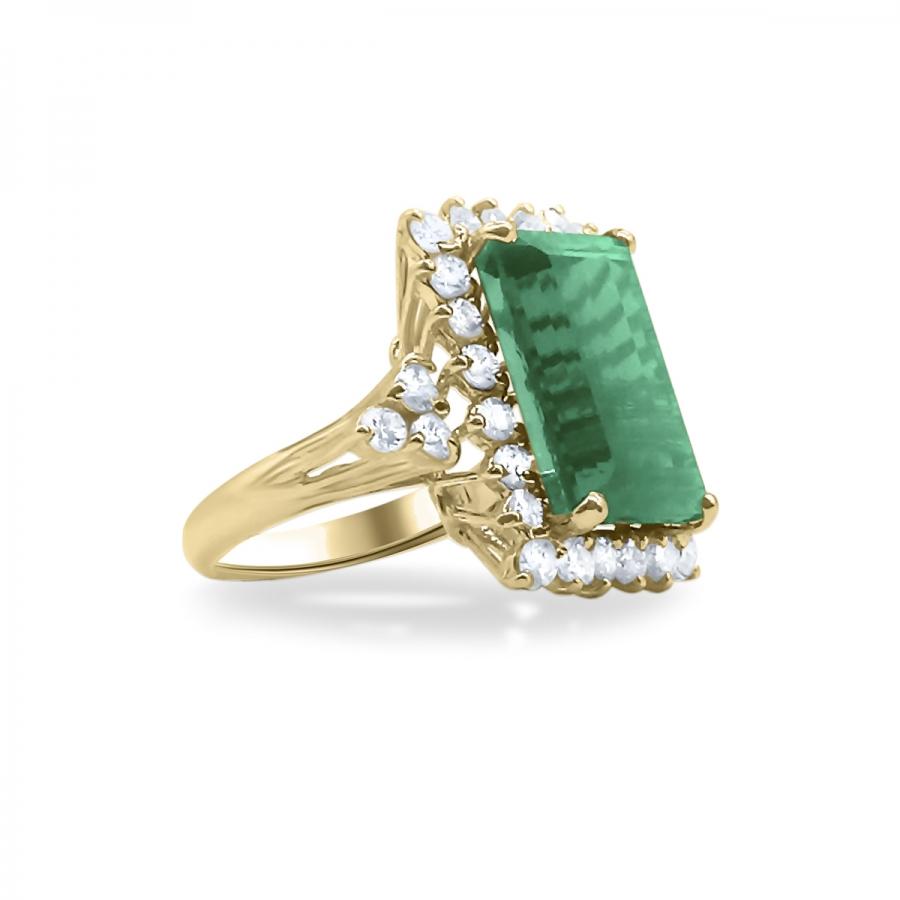Золотое кольцо с Турмалином 9 ct-21