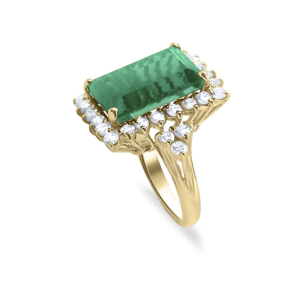 Золотое кольцо с Турмалином 9 ct-4