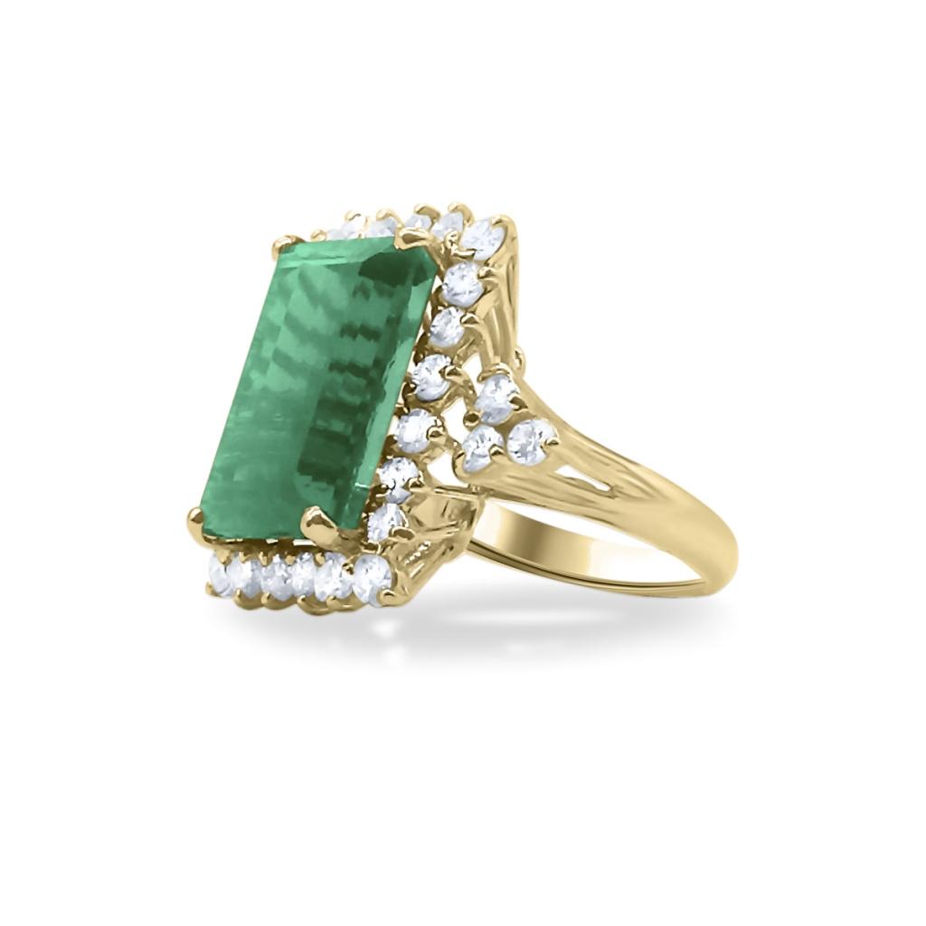 Золотое кольцо с Турмалином 9 ct-2
