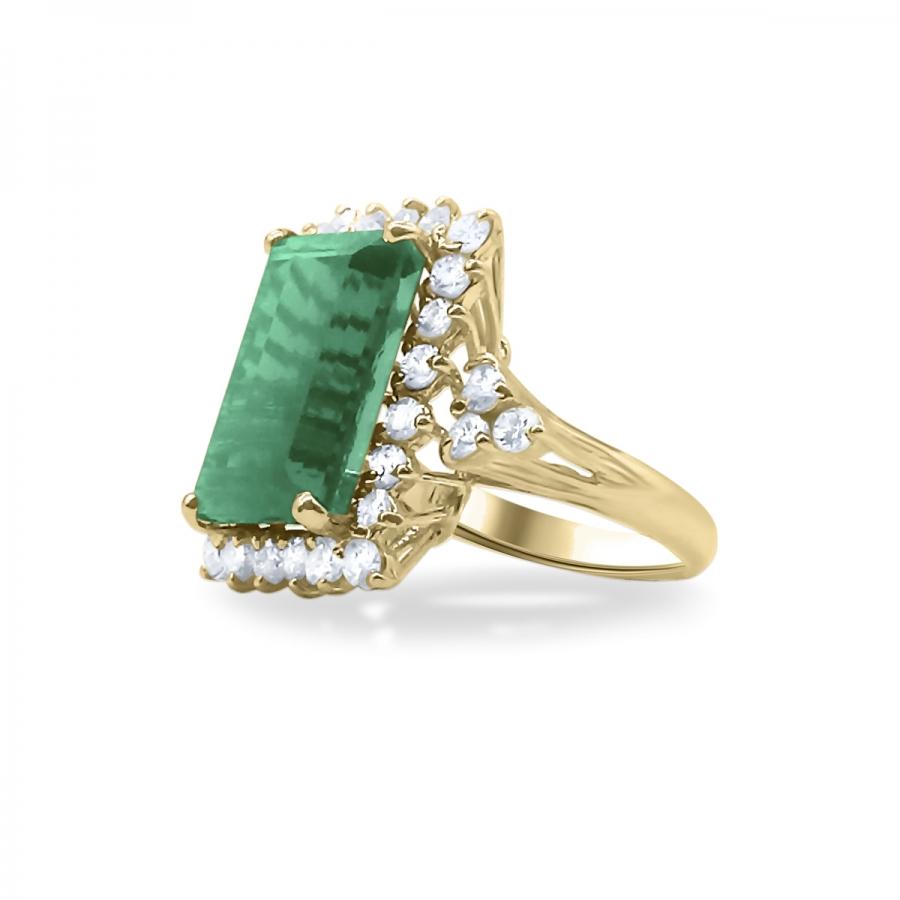 Золотое кольцо с Турмалином 9 ct-22