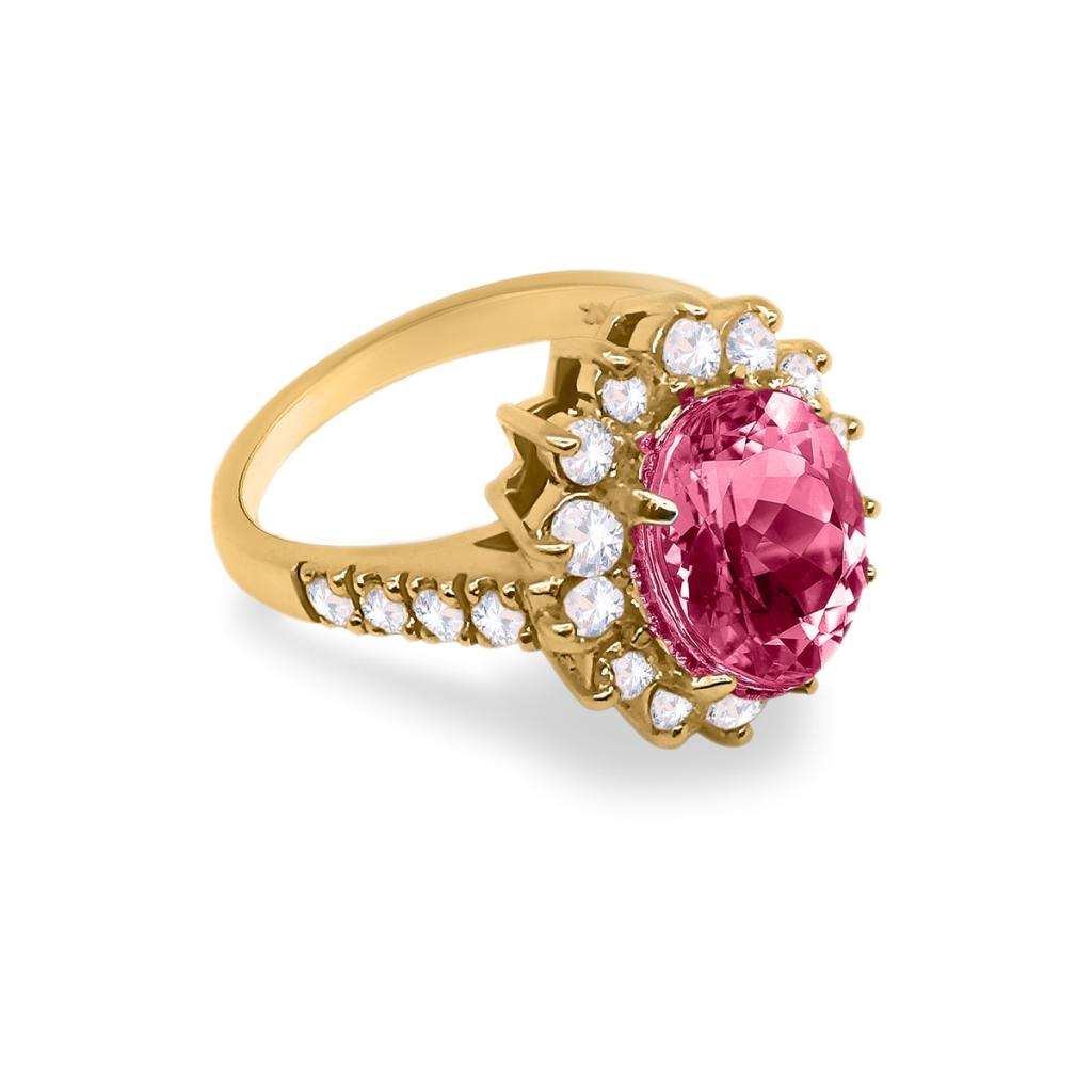 Золотое кольцо с Рубином 3,44 ct-3