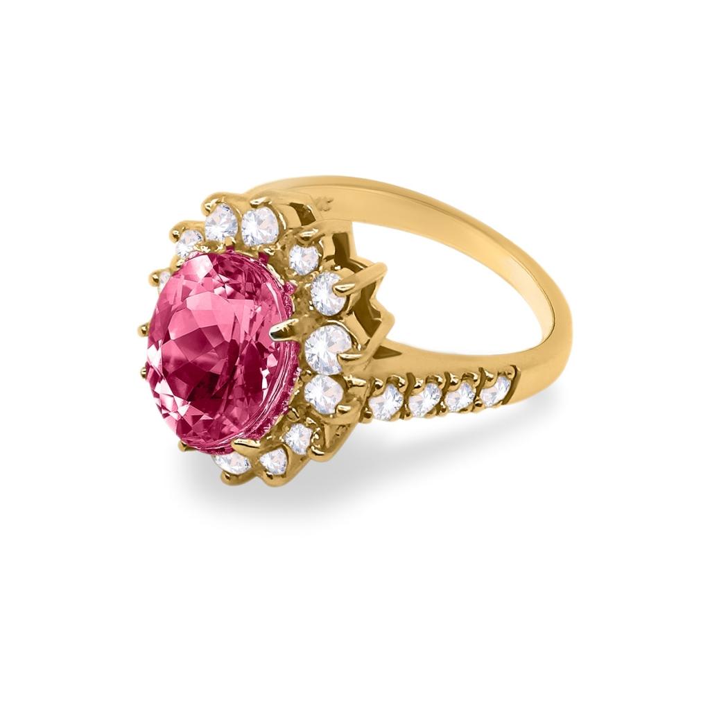 Золотое кольцо с Рубином 3,44 ct-4