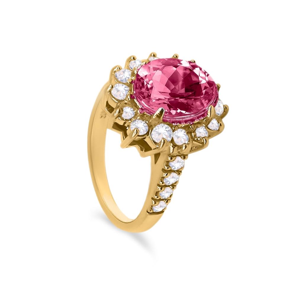 Золотое кольцо с Рубином 3,44 ct-1