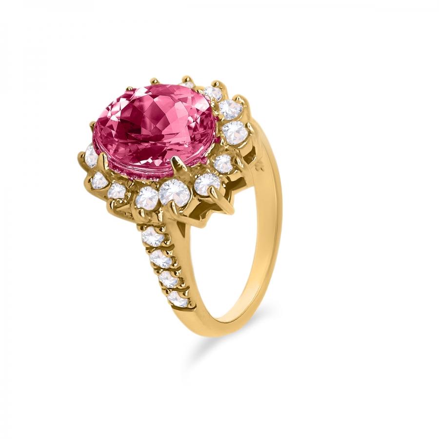 Золотое кольцо с Рубином 3,44 ct-24