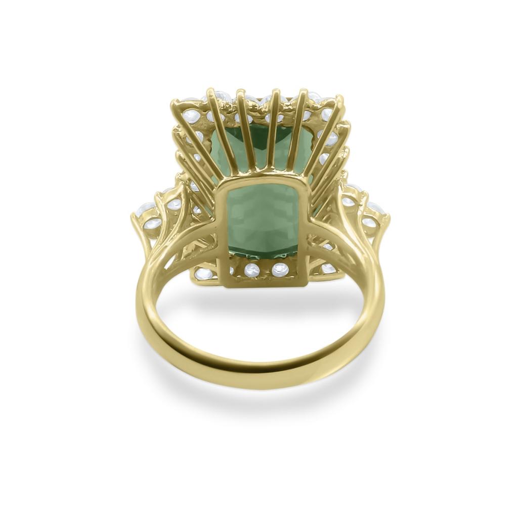 Золотое кольцо с Турмалином 9 ct-5