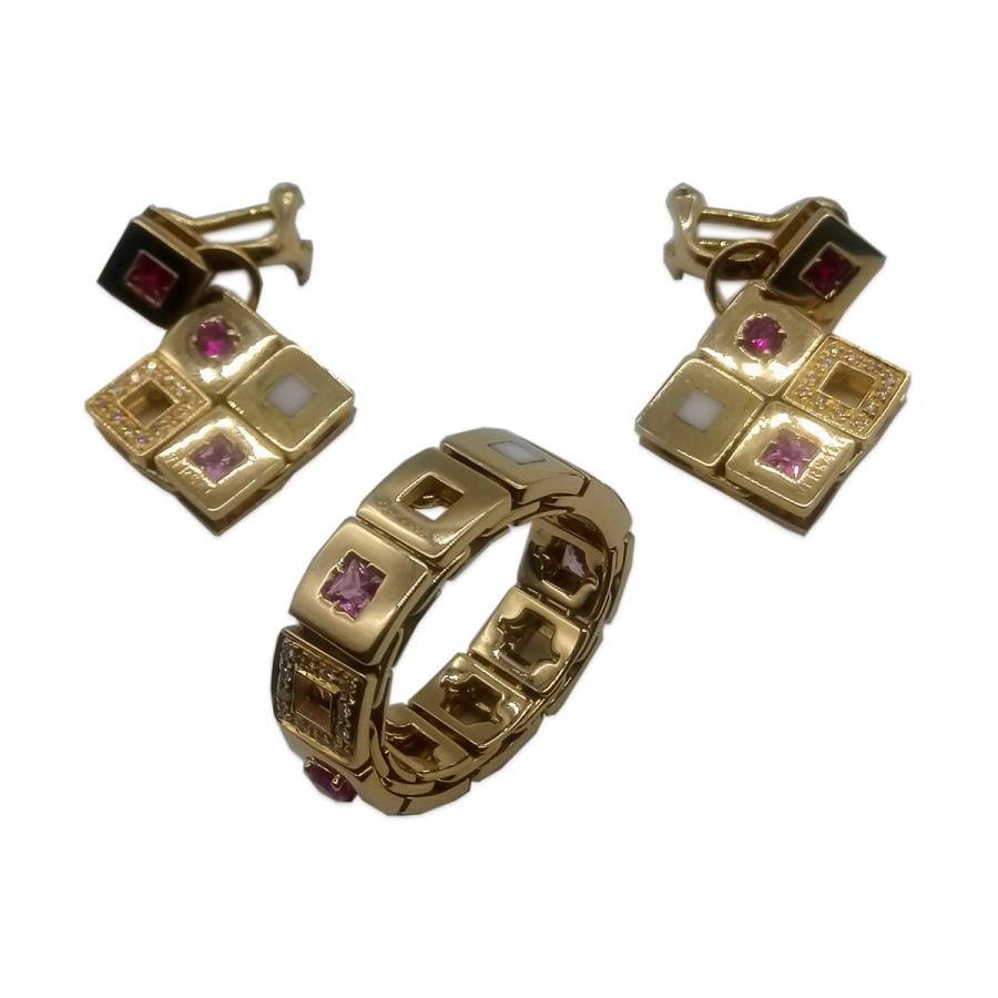 """Комплект """"Versace"""" из коллекции """"Maia"""" с бриллиантами ПРОДАНО-3"""