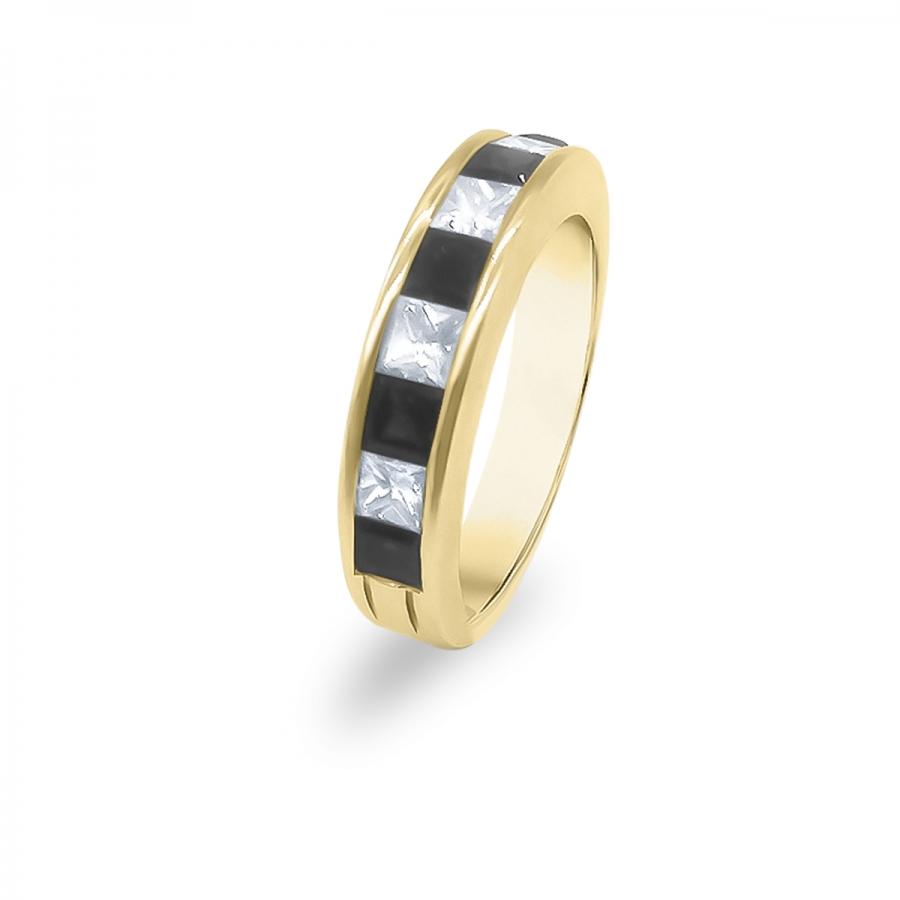 Золотое кольцо с Сапфирами и Бриллиантами-3