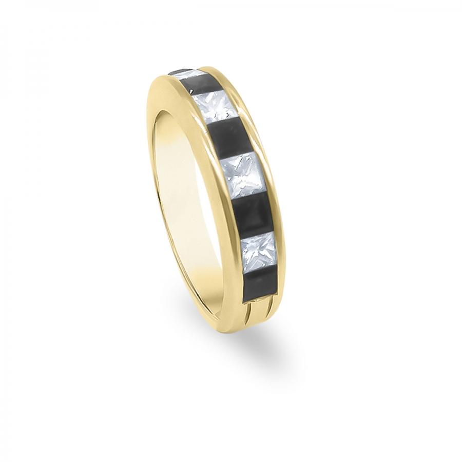 Золотое кольцо с Сапфирами и Бриллиантами-10