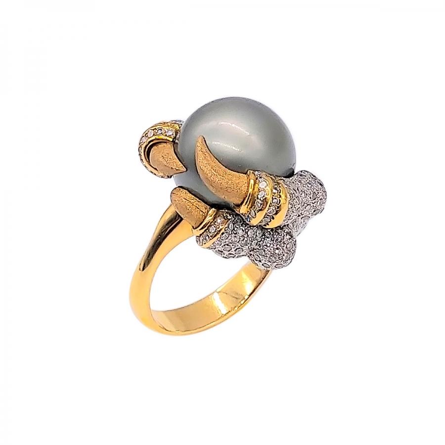 Золотое кольцо с жемчугом от А. Помельникова-2