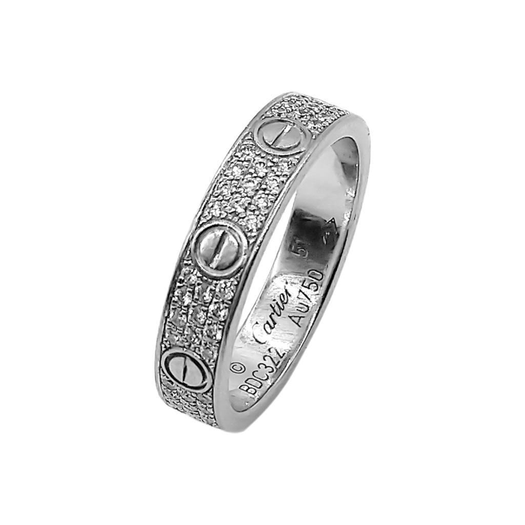 """Золотое кольцо с бриллиантами """"Cartier Love"""" ПРОДАНО-1"""