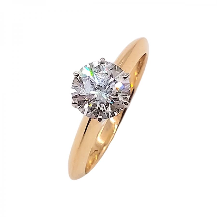 Золотое кольцо c Бриллиантом 1,5 ct-1