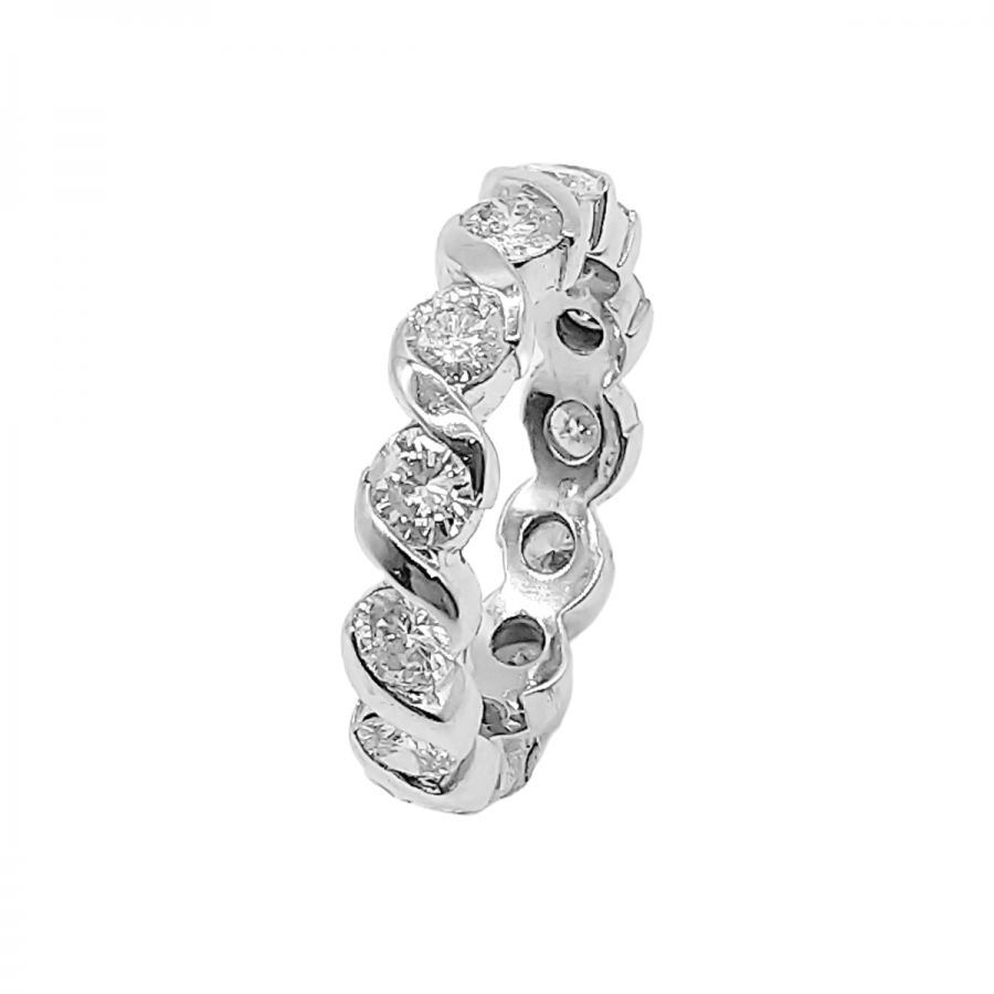 Золотое кольцо с Бриллиантами 2,22 ct.-2