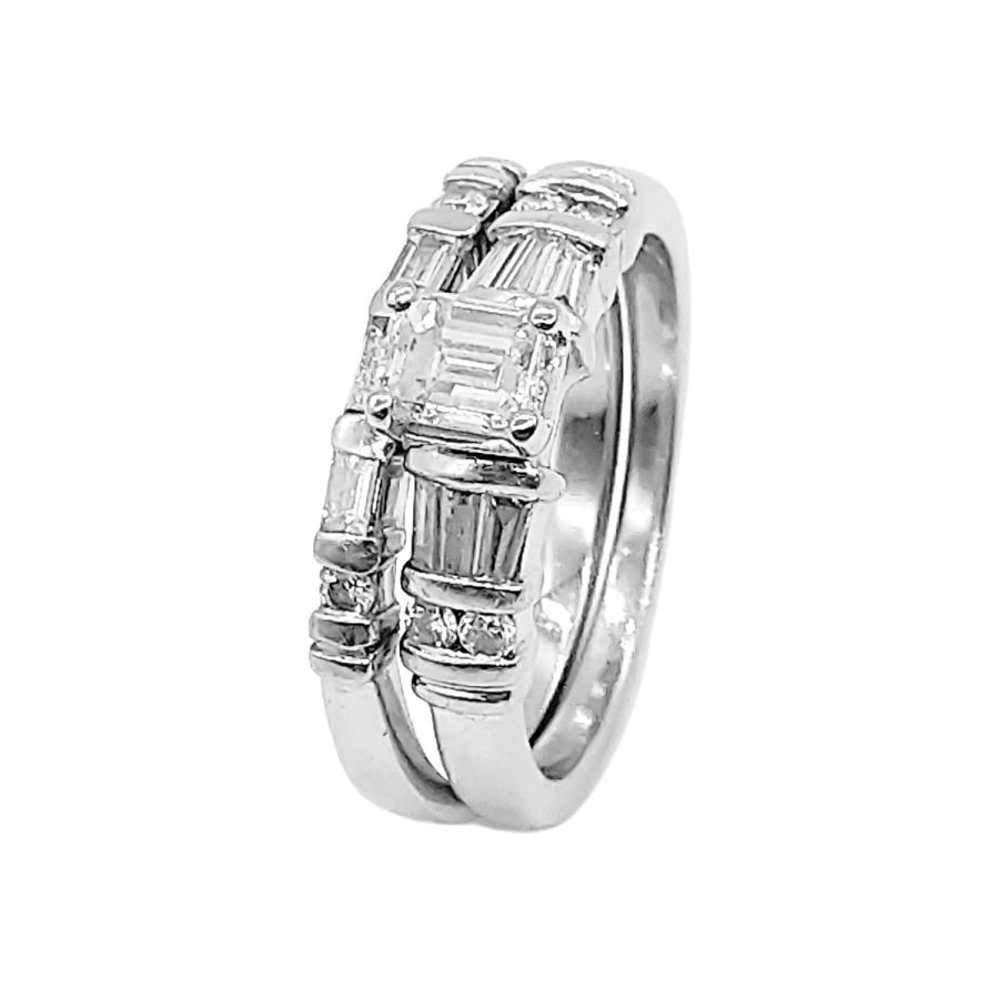 Платиновое кольцо с бриллиантами 0,71 ct-3