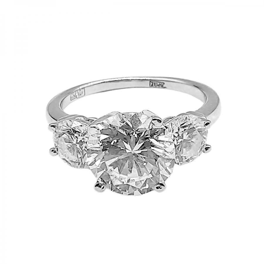 Золотое кольцо с бриллиантами 3,26 ct + 1,44 ct РЕЗЕРВ-2