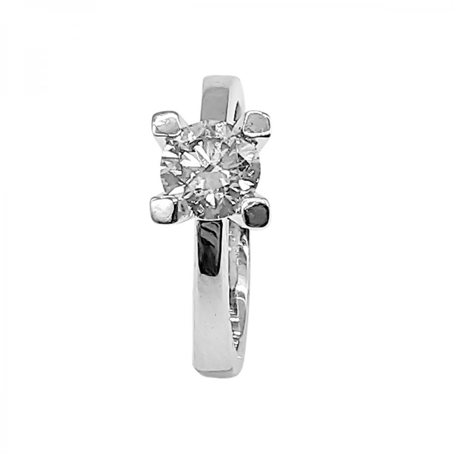 Золотое кольцо с бриллиантом 1,05 ct-1