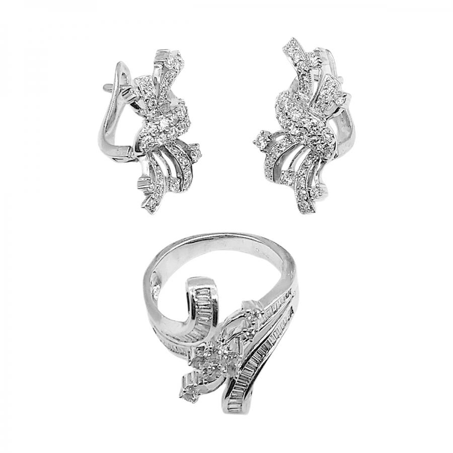 Золотой комплект с бриллиантами ПРОДАНО-3