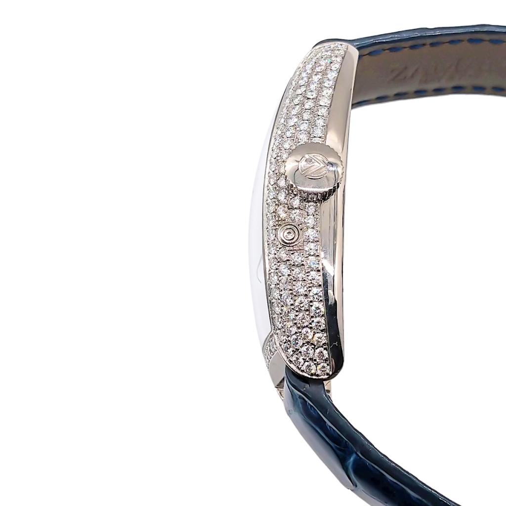 Franck Muller из белого золота с бриллиантами-9