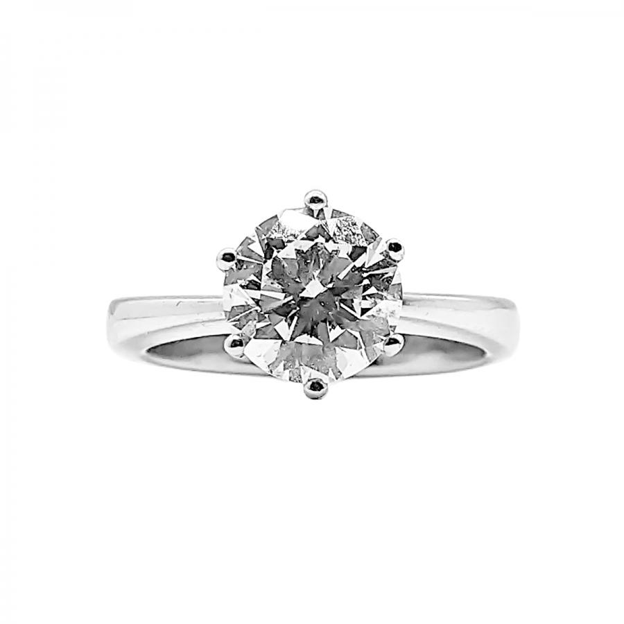 Золотое кольцо с бриллиантом 2,01 ct-1