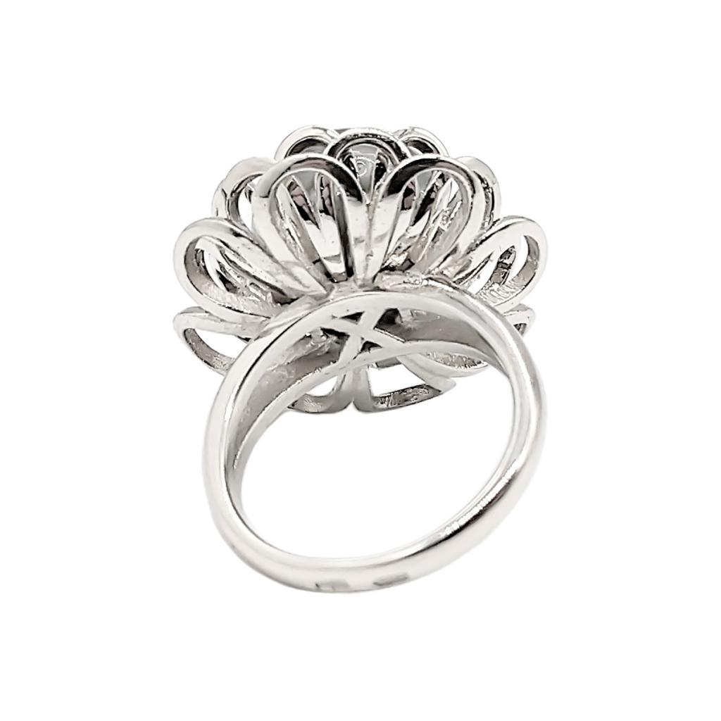 Золотое кольцо с чёрным жемчугом-5