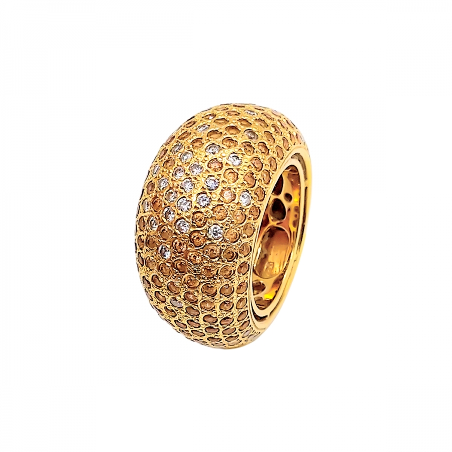 "Золотое кольцо с бриллиантами ""Символ Любви""-1"