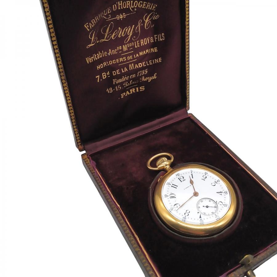Золотые карманные часы L. Leroy ПРОДАНО-7