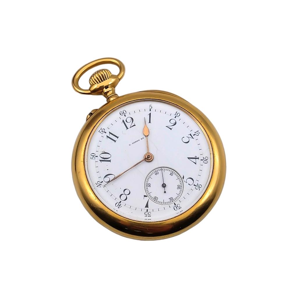Золотые карманные часы L. Leroy ПРОДАНО-2