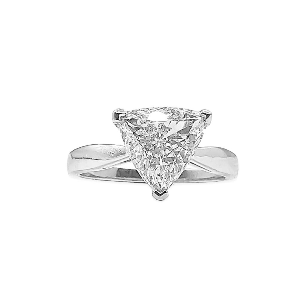 Золотое кольцо с Бриллиантом 2,14 сt GIA-3