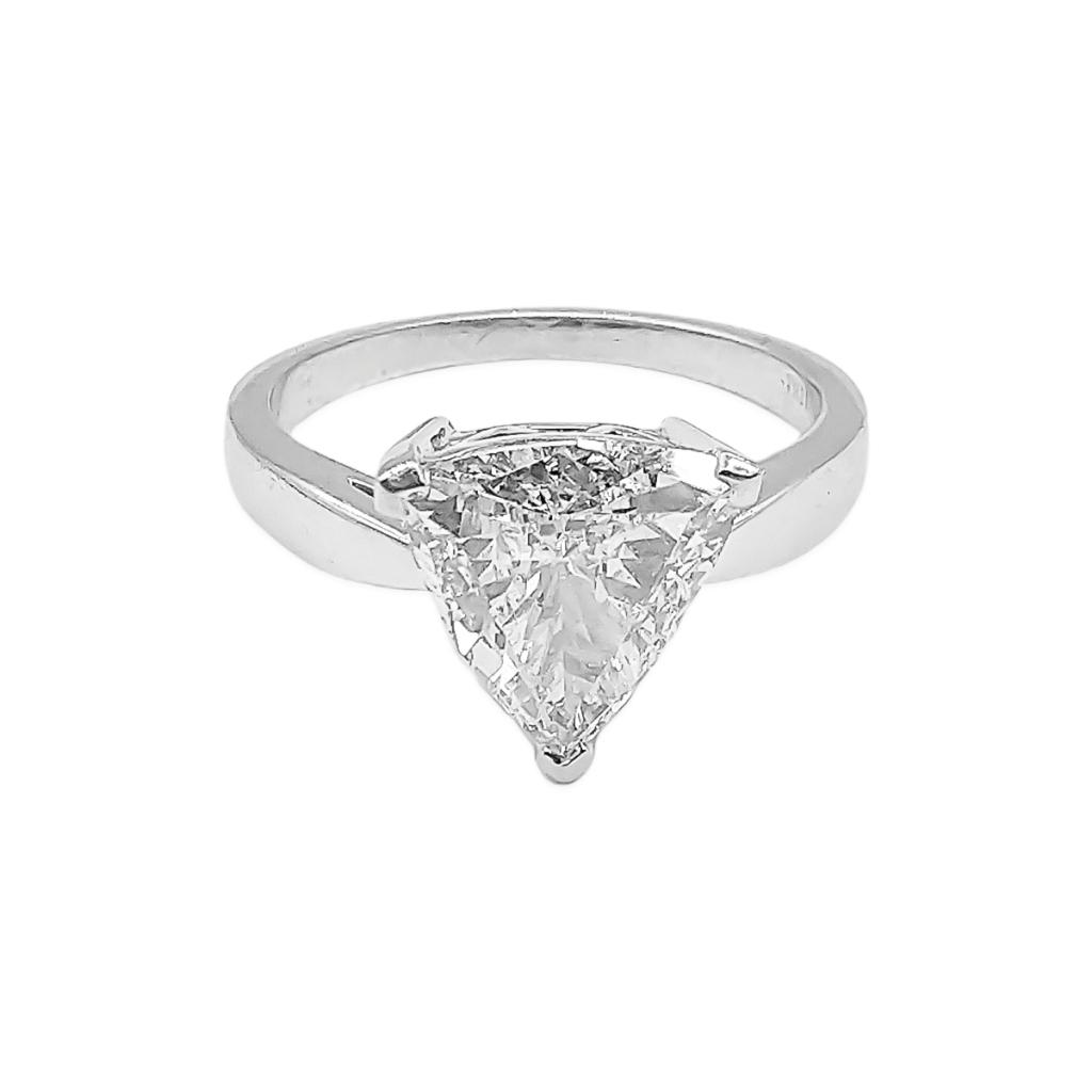Золотое кольцо с Бриллиантом 2,14 сt GIA-2