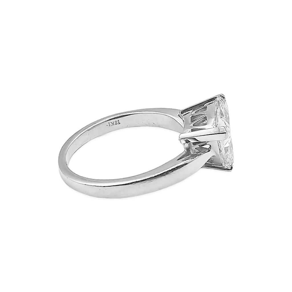 Золотое кольцо с Бриллиантом 2,14 сt GIA-7