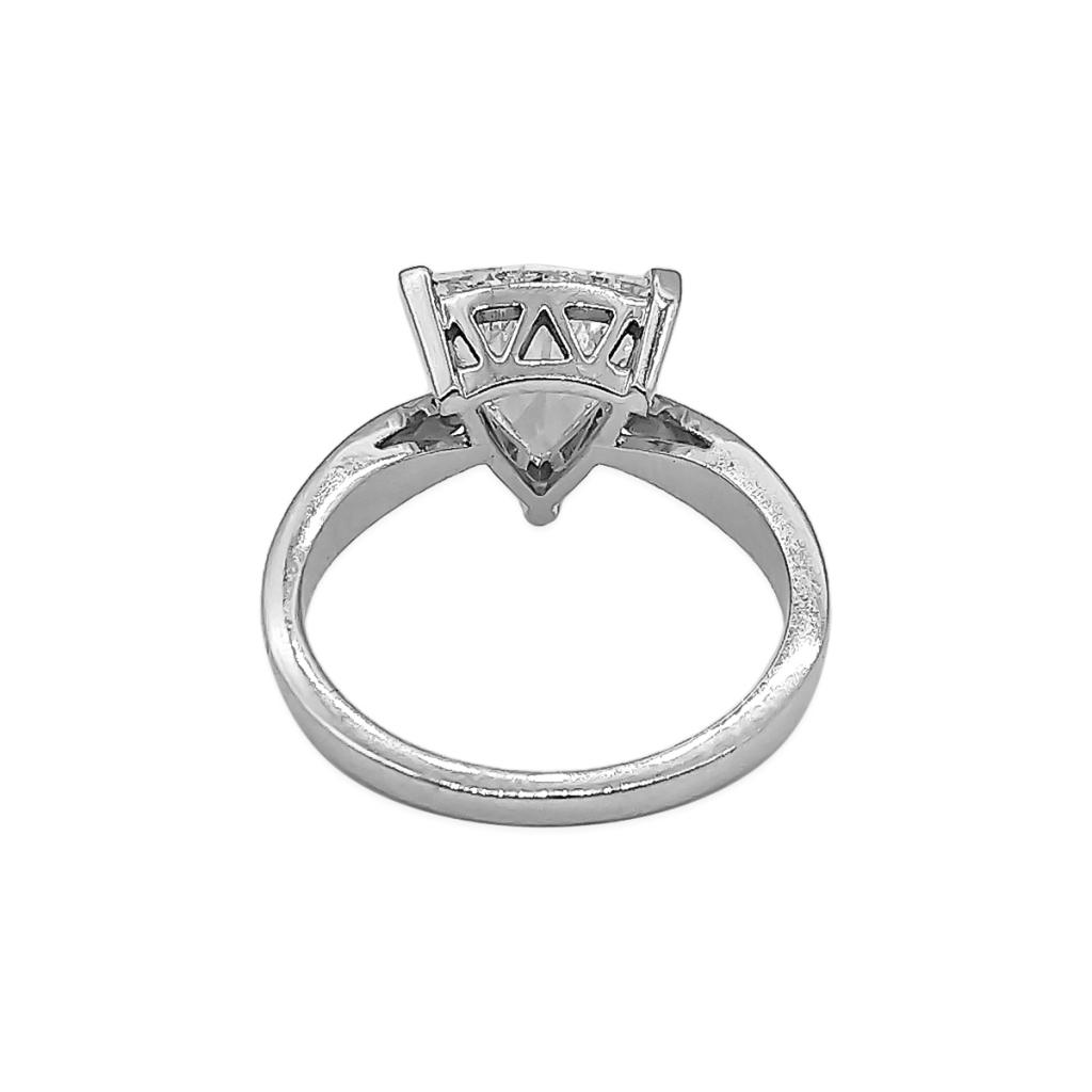 Золотое кольцо с Бриллиантом 2,14 сt GIA-6