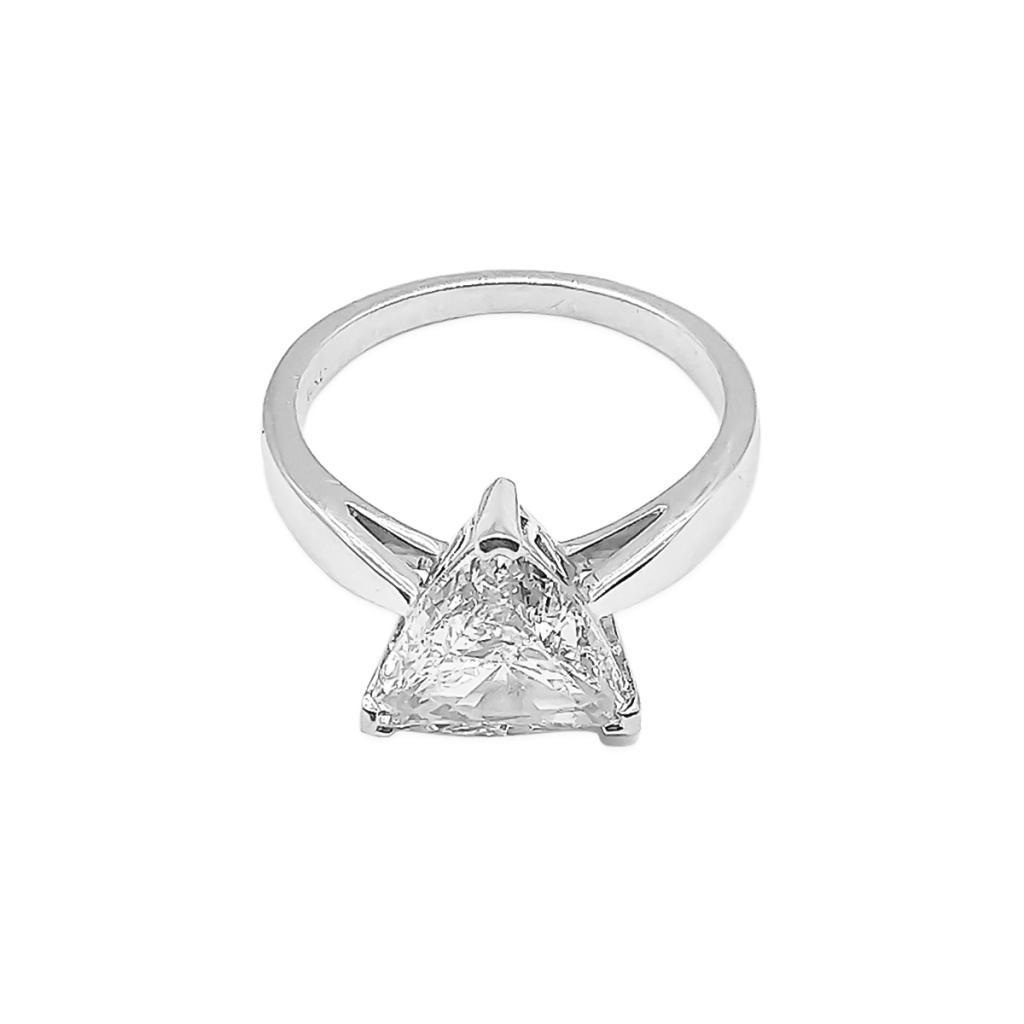 Золотое кольцо с Бриллиантом 2,14 сt GIA-4