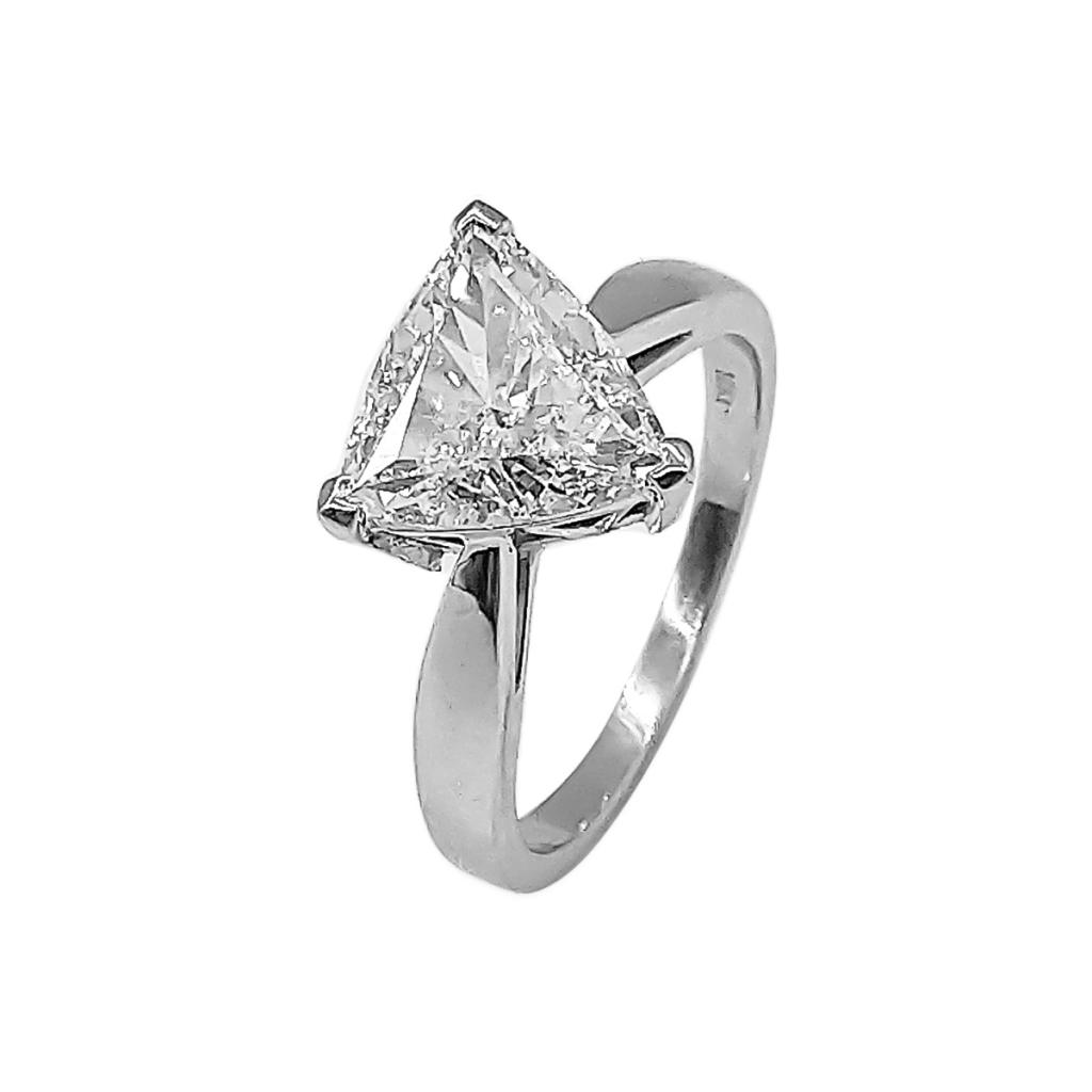 Золотое кольцо с Бриллиантом 2,14 сt GIA-1