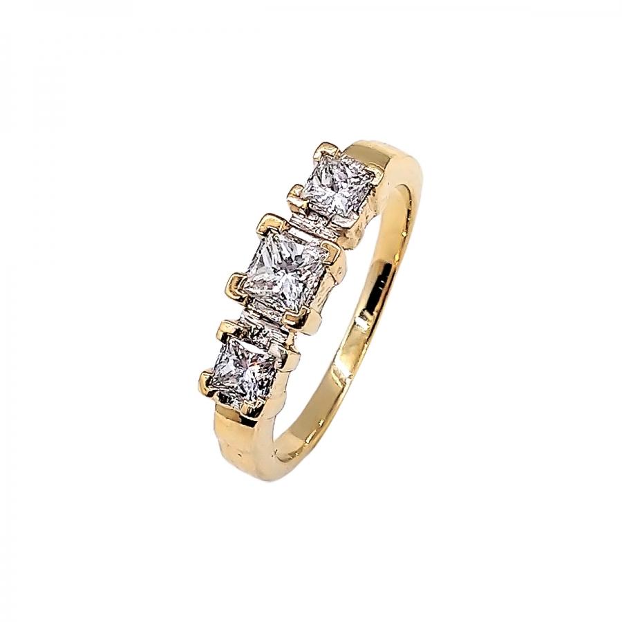 """Кольцо с бриллиантами """"Принцесса""""-44"""