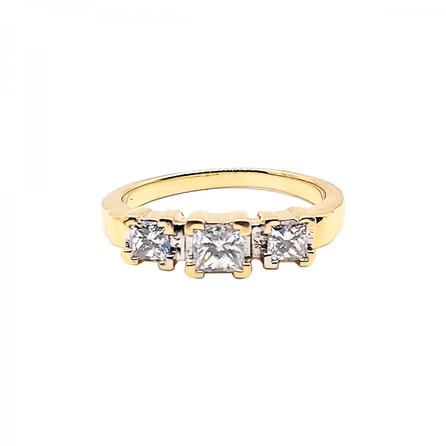 """Кольцо с бриллиантами """"Принцесса""""-45"""
