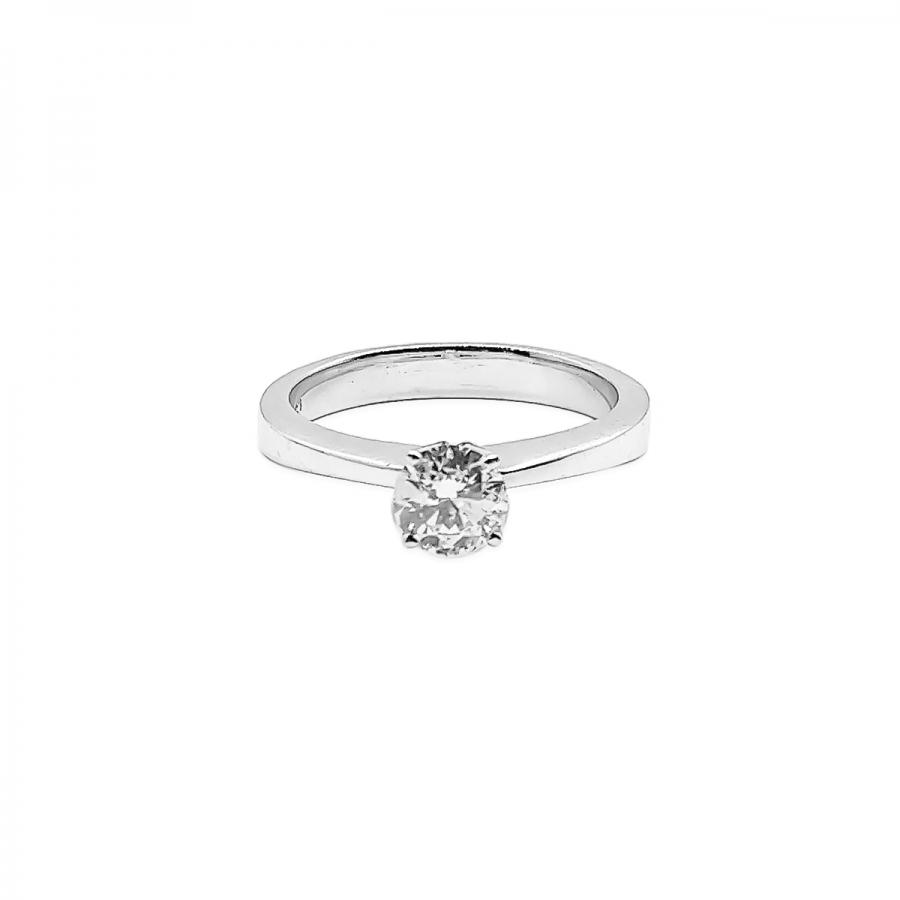 Золотое кольцо с бриллиантом 0,52 ct-43