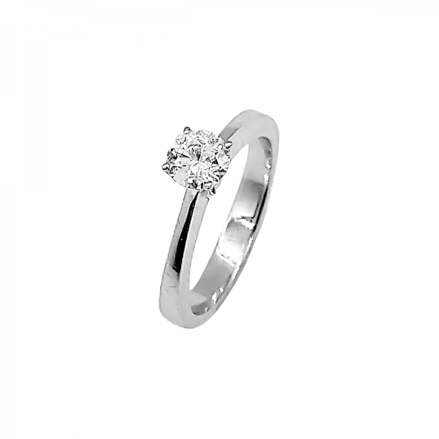 Золотое кольцо с бриллиантом 0,52 ct-42