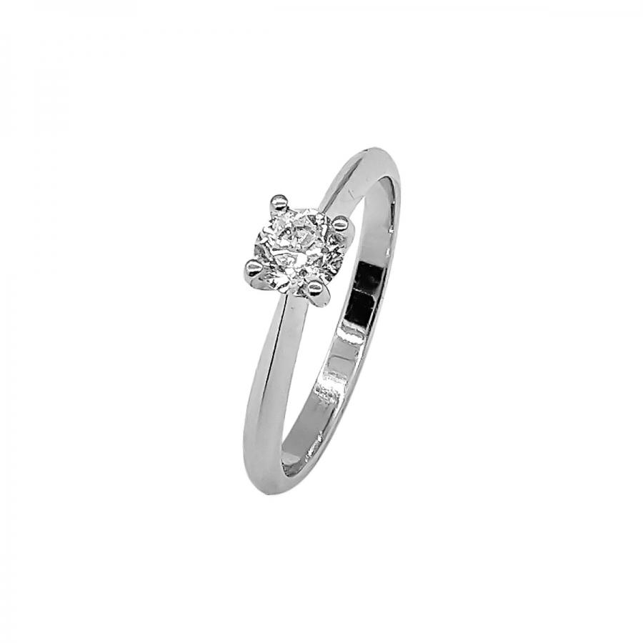 Золотое кольцо c бриллиантом 0,6 ct-40