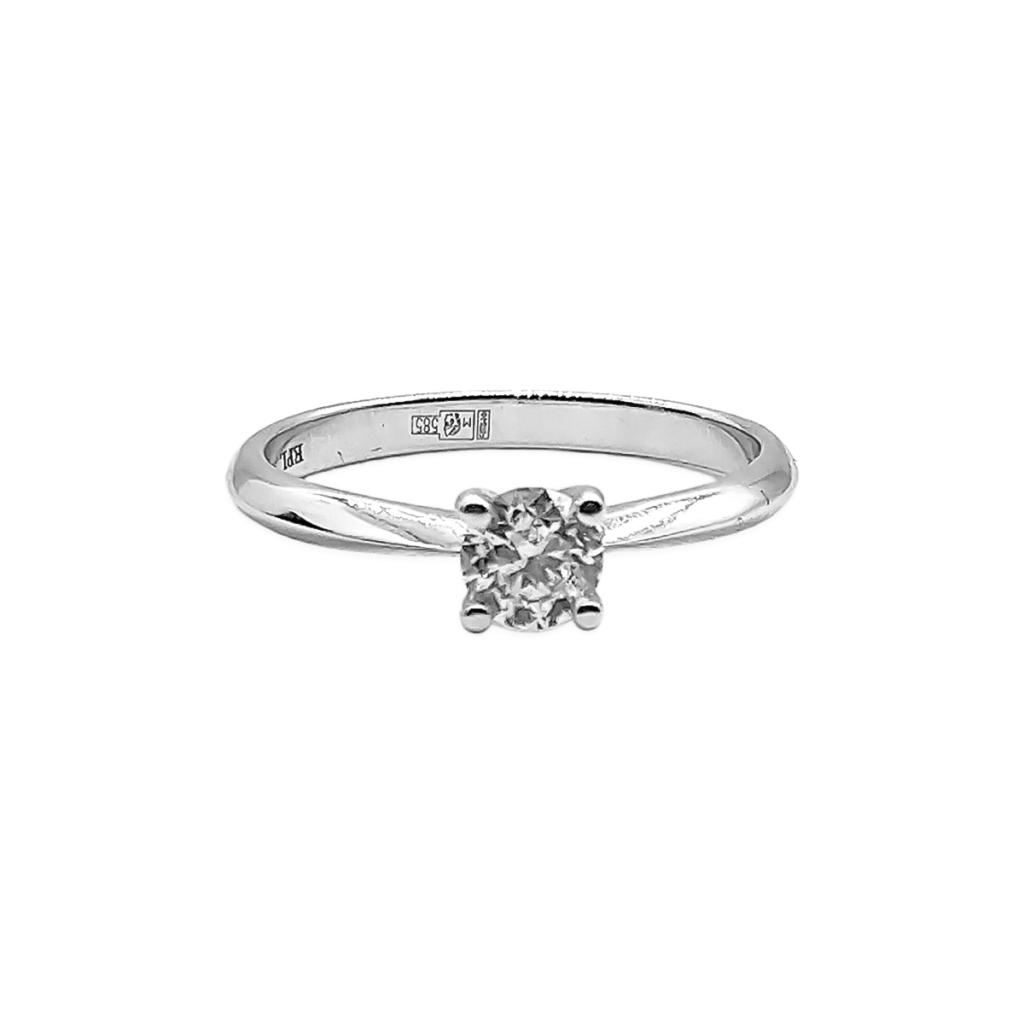Золотое кольцо c бриллиантом 0,6 ct-2