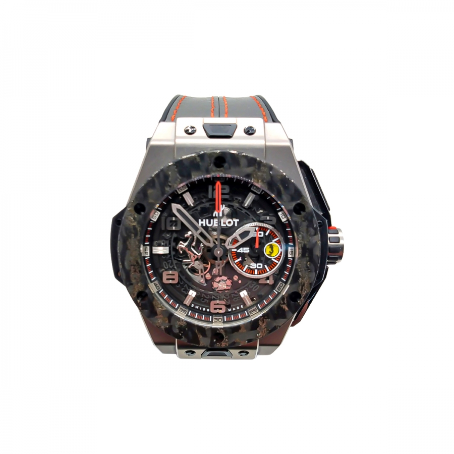 Hublot Big Bang Ferrari Titanium Carbon ПРОДАНО-4